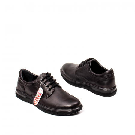 Pantofi barbati casual, piele naturala Otter 2804, negru2