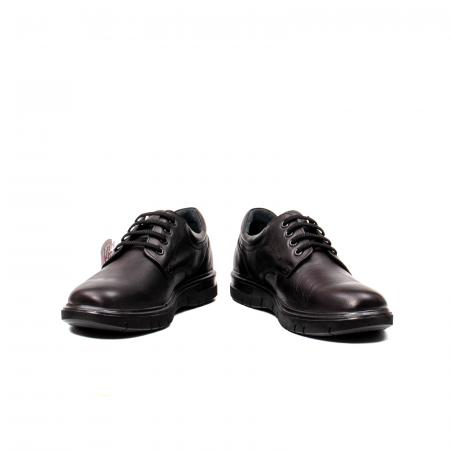 Pantofi barbati casual, piele naturala Otter 2804, negru4