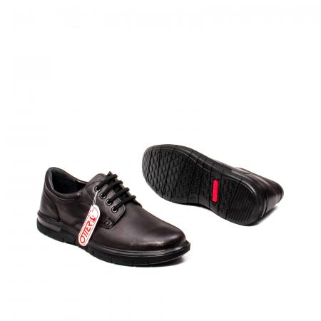 Pantofi barbati casual, piele naturala Otter 2804, negru3