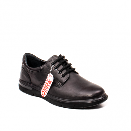 Pantofi barbati casual, piele naturala Otter 2804, negru