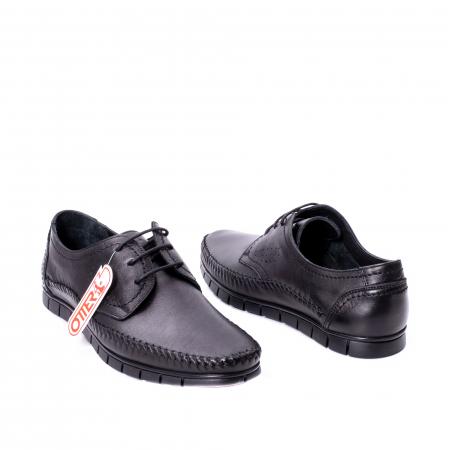 Pantofi barbati casual piele naturala Otter 3205 negru [2]
