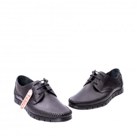 Pantofi barbati casual piele naturala Otter 3205 negru [1]