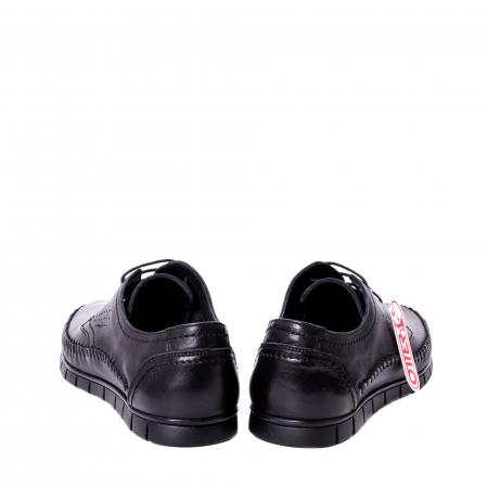 Pantofi barbati casual piele naturala Otter 3205 negru [6]