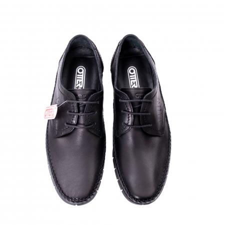 Pantofi barbati casual piele naturala Otter 3205 negru [5]