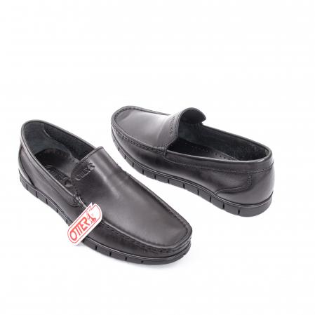 Pantofi barbati casual piele naturala Otter 3206 negru1