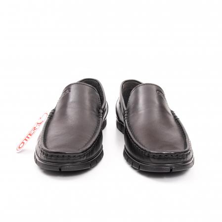 Pantofi barbati casual piele naturala Otter 3206 negru2
