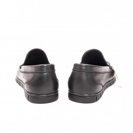 Pantofi barbati casual piele naturala Otter 3206 negru4
