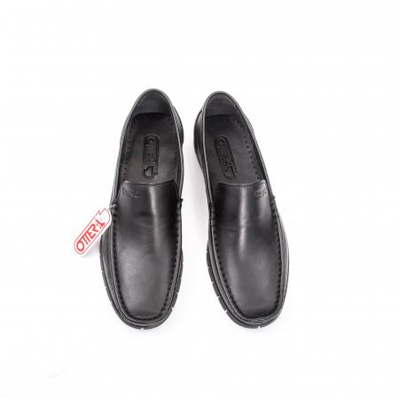 Pantofi barbati casual piele naturala Otter 3206 negru5