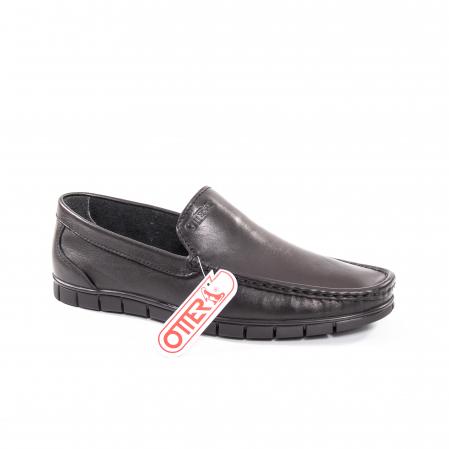 Pantofi barbati casual piele naturala Otter 3206 negru0