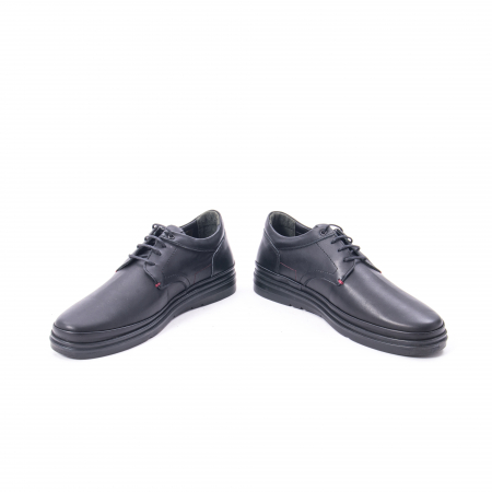 Pantofi casual barbat din piele naturala Otter 5318 negru4