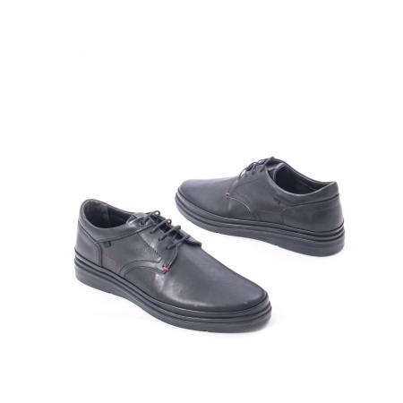 Pantofi casual barbat din piele naturala Otter 5318 negru2