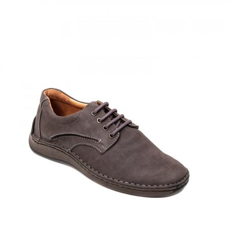 Pantofi  barbati casual, piele naturala nubuc, LFX 918 G0