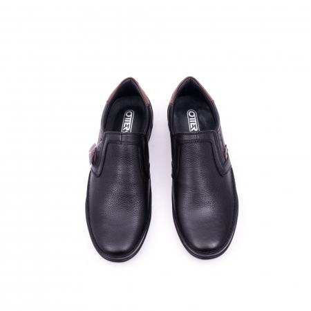 Pantofi barbati casual piele naturala Otter 220, negru5