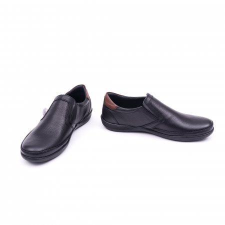 Pantofi barbati casual piele naturala Otter 220, negru4