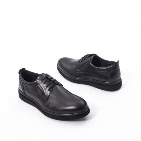 Pantofi casual barbat,piele naturala Catali 172568,negru2