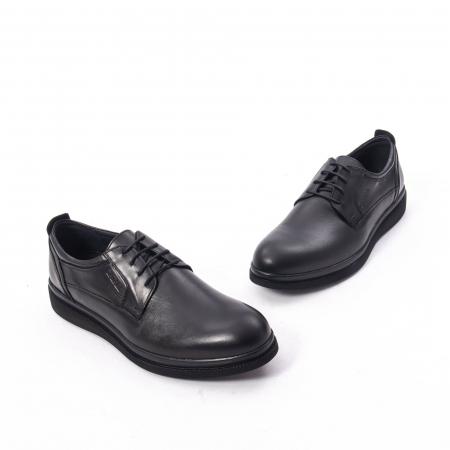 Pantofi casual barbat,piele naturala Catali 172568,negru1