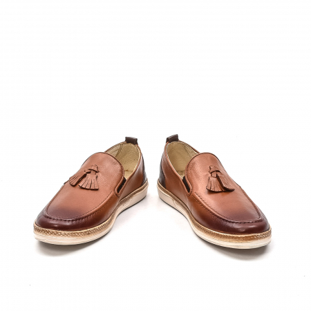 Pantofi barbati casual, piele naturala, 191544STAR, coniac4