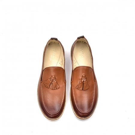 Pantofi barbati casual, piele naturala, 191544STAR, coniac5