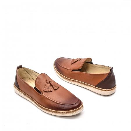 Pantofi barbati casual, piele naturala, 191544STAR, coniac2