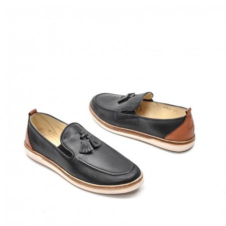 Pantofi barbati casual din piele naturala, 191544STAR, negru2