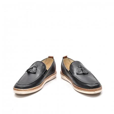 Pantofi barbati casual din piele naturala, 191544STAR, negru4