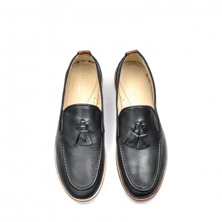 Pantofi barbati casual din piele naturala, 191544STAR, negru5