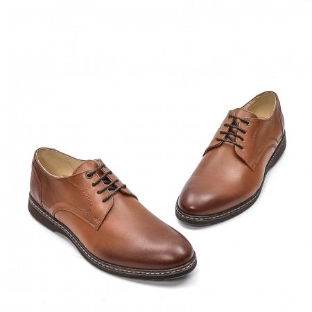Pantofi barbati casual din piele naturala, 201567NP, maro1