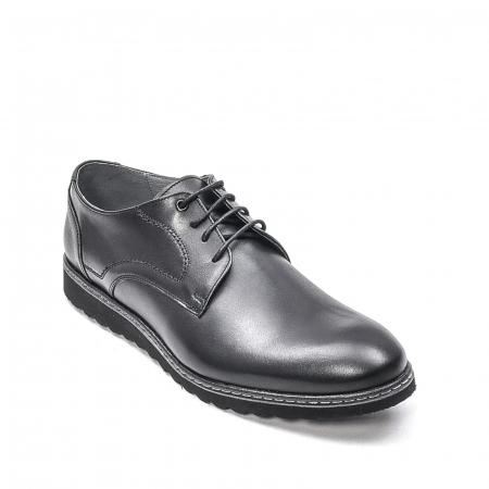 Pantofi barbati casual din piele naturala, 201567NP, negru0