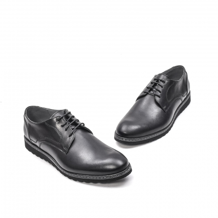 Pantofi barbati casual din piele naturala, 201567NP, negru1