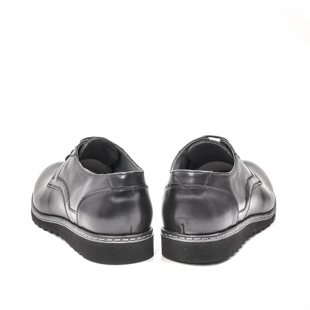 Pantofi barbati casual din piele naturala, 201567NP, negru6