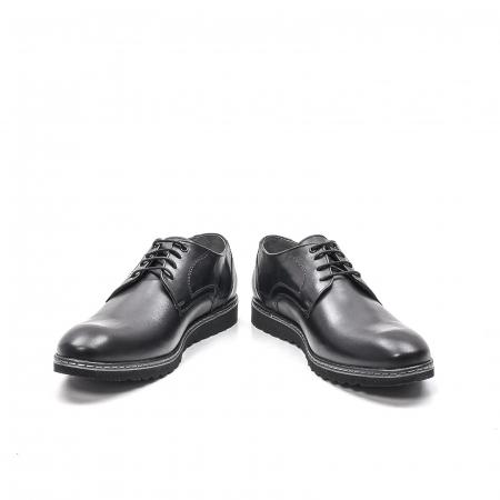Pantofi barbati casual din piele naturala, 201567NP, negru4