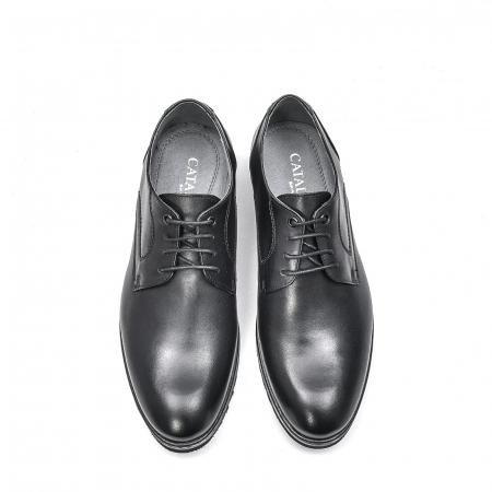 Pantofi barbati casual din piele naturala, 201567NP, negru5