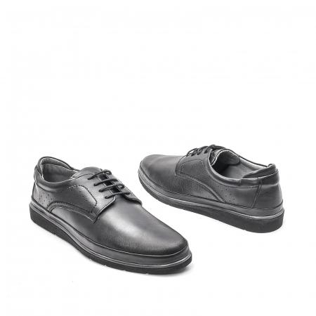 Pantofi barbati casual din piele naturala, 201569NP, negru2