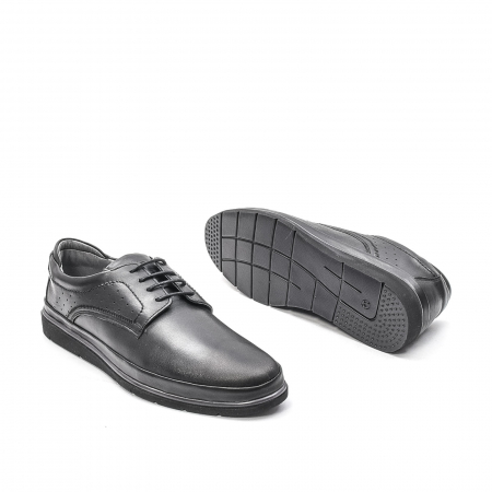 Pantofi barbati casual din piele naturala, 201569NP, negru3