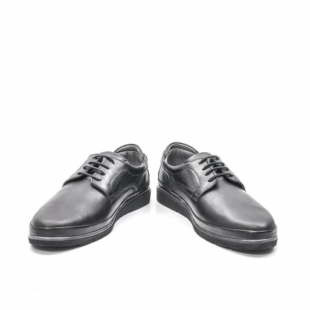 Pantofi barbati casual din piele naturala, 201569NP, negru4