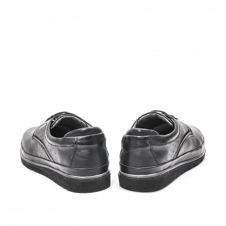 Pantofi barbati casual din piele naturala, 201569NP, negru6