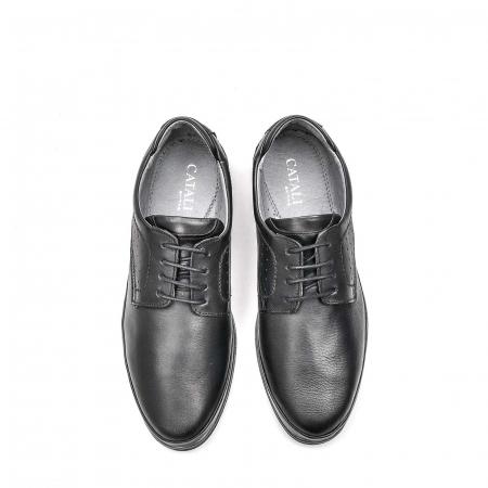 Pantofi barbati casual din piele naturala, 201569NP, negru5