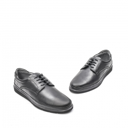 Pantofi barbati casual din piele naturala, 201569NP, negru1