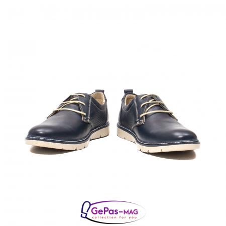 Pantofi casual barbat, piele naturala, 5930 bleumarin4