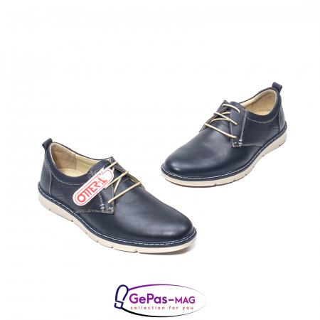 Pantofi casual barbat, piele naturala, 5930 bleumarin1