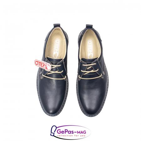 Pantofi casual barbat, piele naturala, 5930 bleumarin5