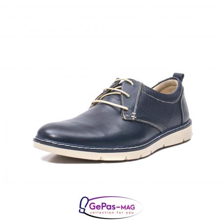 Pantofi casual barbat, piele naturala, 5930 bleumarin0