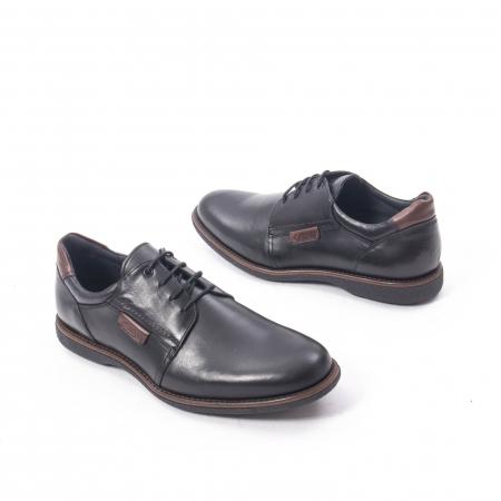 Pantofi casual barbat piele naturala, Catali 182505 negru2