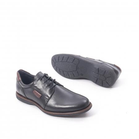 Pantofi casual barbat piele naturala, Catali 182505 negru3