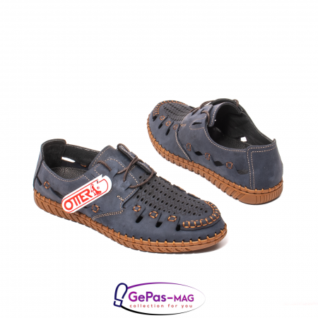 Pantofi casual barbat, piele naturala nubuc, OJ2911-133 42-22