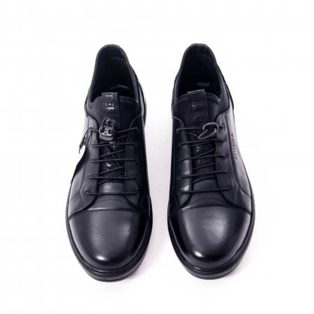 Pantofi casual barbat, piele naturala, Otter QRA42617 01-N negru5