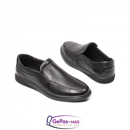 Pantofi barbati mocasin, piele naturala, QRB017313 [4]