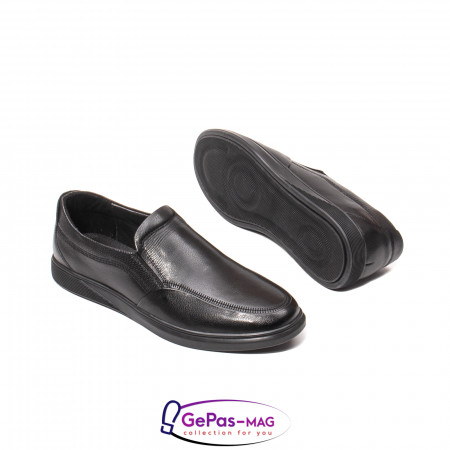 Pantofi barbati mocasin, piele naturala, QRB017313 [5]
