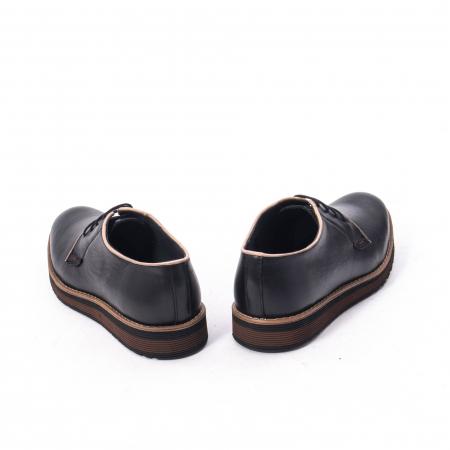 Pantofi casual barbati din piele naturala, Catali 505, negru6