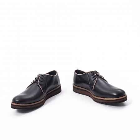 Pantofi casual barbati din piele naturala, Catali 505, negru4